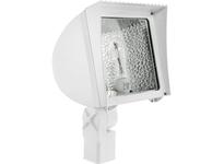 RAB FXH150SFPSQW/PC FLEXFLOOD 150W MH PSQT HPF PULSE START + 120V PC WHITE