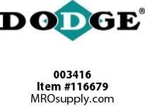DODGE 003416 PX100 FBX 3-5/16 FLG ASSEMBLY