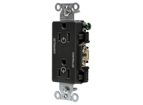 HBL_WDK DR15C2BLK 2/2 CONTROLLED 15A 125V B/S DECO BK
