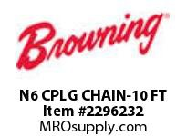 Morse 174516 N6 CPLG CHAIN-10 FT NYL DELRIN COUPLING CHAIN-500