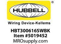 HBL_WDK HBT300616SWBK WBPRFRM RADI 30 6Hx16W BLACKSTLWLL