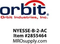 Orbit NYESSE-B-2-AC LED NY SURF EDGE-LIT EXIT SIGN BLK TR2F AC ONLY