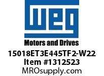 WEG 15018ET3E445TF2-W22 150HP 1800 3 60 208-230/460V TEFC-NEMA Pr