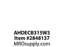 CPR-WDK AHDECB315W3 Switch Decorator 15A 3Way 347V B/Side WH
