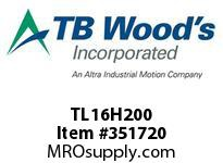 TBWOODS TL16H200 TL16H200 1008 TIM PULLEY