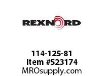 REXNORD 114-125-81 D843K3 TP 166873