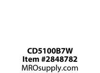 CPR-WDK CD5100B7W Inlet Pin&Slv 100A277/480V3PH 4P5W WT RD