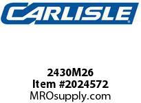 Carlisle 2430M26 Poly Rib M