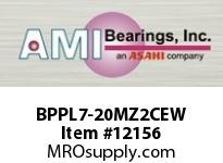 AMI BPPL7-20MZ2CEW 1-1/4 ZINC NARROW SET SCREW WHITE P