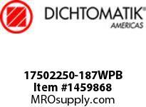 Dichtomatik 17502250-187WPB WIPER