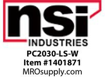 NSI PC2030-LS-W 2 X 3 LOK-SLOT PANEL CHANNEL (WHITE) - COVER INCLUDED