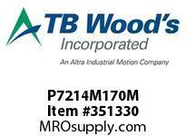 TBWOODS P7214M170M P72-14M-170-M SYNCH SPROCK