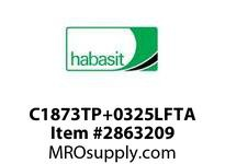 "Habasit C1873TP+0325LFTA 1873 Tab 3.25"" Top Plate Low Friction Acetal"