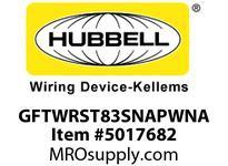 HBL_WDK GFTWRST83SNAPWNA 20A COM ST TRWR HG SNAP GFR USA WHITE