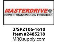 MasterDrive 2/SPZ106-1610 2 GROOVE SPZ SHEAVE
