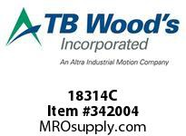 TBWOODS 18314C 18X3 1/4-SF CR PULLEY