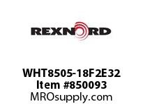 REXNORD WHT8505-18F2E32 WHT8505-18 F2 T32P N1.5 WHT8505 18 INCH WIDE MATTOP CHAIN W