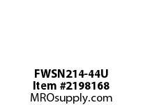 PTI FWSN214-44U PILOTED 4-BOLT FLANGE BEARING-2-3/4 FWSN 200 SILVER SERIES - NORMAL DUT
