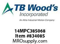 TBWOODS 14MPC385068 14MPC-3850-68 QTPCII BELT