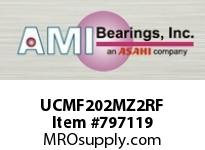 AMI UCMF202MZ2RF 15MM ZINC SET SCREW RF STAINLESS 4- SINGLE ROW BALL BEARING
