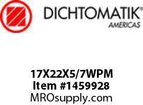 Dichtomatik 17X22X5/7WPM WIPER