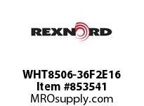 REXNORD WHT8506-36F2E16 WHT8506-36 F2 T16P N2 WHT8506 36 INCH WIDE MATTOP CHAIN W