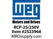 WEG RCP-25/250V RUN CAPACITOR RUN CAP
