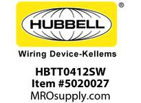 HBL_WDK HBTT0412SW WBPRFRM RADI T 4Hx12W PREGALVSTLWLL