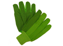 West Chester 710KGRPD Green Knit Wrist & Canvas w/Black PVC Dotted Palm - Poly/Cotton - Mens