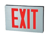 Fulham FHEX22GAC FireHorse Emergency Exit Sign - LED - Black Housing with Aluminum Faceplate - Green Letters - AC Only