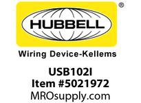 HBL_WDK USB102I USB CHRGR SP3W 2.1A 5V TWO PORT IVORY