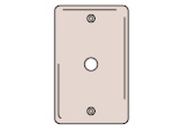 HBL-WDK NP11W WALLPLATE 1-G .406 OPNG BOX MT WH