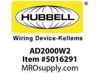 HBL_WDK AD2000W2 WALL SWVAC/OCCDT2R120/277VWH