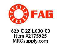 FAG 629-C-2Z-L038-C3 SMALL RADIAL DEEP GROOVE BALL BEARI