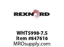 REXNORD WHT5998-7.5 WHT5998-7.5 WHT5998 7.5 INCH WIDE MATTOP CHAIN