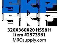 SKFSEAL 320X360X20 HSS8 H LARGE DIAMETER SEAL