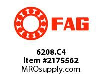FAG 6208.C4 RADIAL DEEP GROOVE BALL BEARINGS