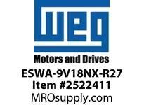 WEG ESWA-9V18NX-R27 FVNR 3HP/460V T-A 4X 120V Panels