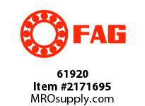 FAG 61920 RADIAL DEEP GROOVE BALL BEARINGS