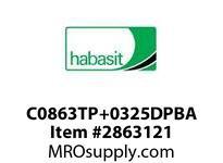 """Habasit C0863TP+0325DPBA 863 Bevel 3.25"""" Top Plate Low Friction Acetal"""