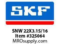 SKF-Bearing SNW 22X3.15/16