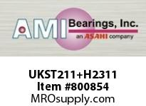 AMI UKST211+H2311 50MM NORMAL WIDE ADAPTER WIDE SLOT ROW BALL BEARING