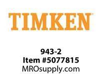 TIMKEN 943-2 TRB Single Cone 4-8 OD