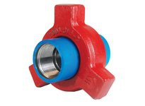 "DIXON HU1002300BW 3"" FORGED STL BUTTWELL HAMMER UNION 1002 SERIES BLUE SUB RED NUT"