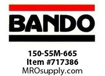 Bando 150-S5M-665 SYNCHRO-LINK STS TIMING BELT NUMBER OF TEETH: 133 WIDTH: 15 MILLIMETER