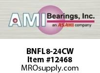 AMI BNFL8-24CW 1-1/2 NARROW SET SCREW WHITE 2-BOLT PLASTIC HSG W/O.C & BS