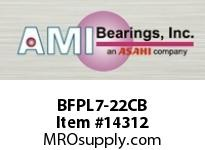 AMI BFPL7-22CB 1-3/8 NARROW SET SCREW BLACK 4-BOLT PLASTIC HSG./O.C& BS