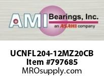 AMI UCNFL204-12MZ20CB 3/4 KANIGEN SET SCREW BLACK 2-BOLT COV SINGLE ROW BALL BEARING