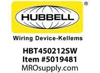HBL_WDK HBT450212SW WBPRFRM RADI 45 2Hx12W PREGALVSTLWLL