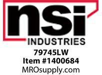 NSI 79745LW ROUND INDICATOR LIGHT CLEAR LENS STAINLESS BEZEL